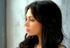 sheri vi, joanna, darina, genie, karina, divina, model, dark hair, russian, sensual lips, beautiful, face