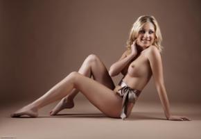 julia crown, tindra mantel, sexy, horny, naked, boobs, tits, perfect boobs, nipples, hard nipples, ribbon, sexy legs, perfect body