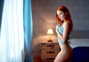 model, pretty, babe, redhead, russian, shirt, no panties, bottomless, georgy chernyadyev studio, 4k