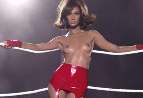 joan smalls, bruntte, supermodel, posing, shiny, latex, erotic, hi-q, photoshoot, pirelli calendar, hot, tanned skin, fetish babe