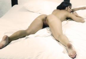 melisa mendiny, spread, pussy, ass, labia, anus, brunette, hot, healthy ass