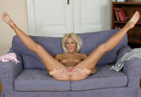 dorina, model, blonde, pussy, legs open, small breasts