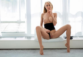 nancy a, jane f, erica, model, blonde, long hair, big tits, perfect tits, tits, boobs, body suit, pussy, shaved pussy, labia, legs, curtains, windows, nancy ace