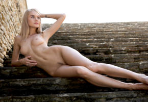 nancy a, jane f, erica, model, blonde, blue eyes, perfect girl, perfect body, outdoors, nude, nancy ace