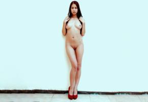 paula shy, nude, boobs, handbra, shaved pussy, tits, hot, brunette