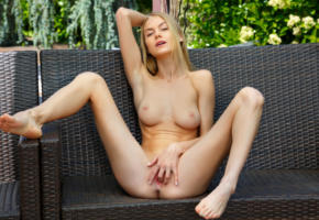 nancy a, jane f, erica, blonde, outdoors, bench, naked, tits, nipples, masturbating, fingering, pussy, labia, spread legs, hi-q, nancy ace