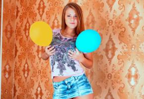 viola bailey, luftballons, handbra, sexy, non nude
