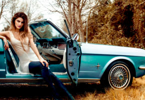 model, pretty, brunette, car, chevrolet, corvette, cabrio, vintage car