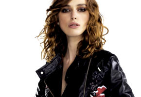 keira knightley, model, actress, pretty, british, sensual lips, leather jacket, 4k, face