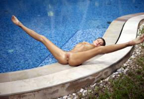 maria ryabushkina, maria, tara, melena, maria rya, auburn, pool, naked, tits, shaved pussy, labia, ass, spread legs, tanned, ultra hi-q