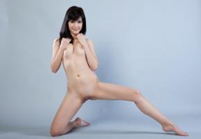 zelda b, zelda, arina b, naked, sexy, hi-q, shaved pussy, pussy, model, hot, smile, legs, brunette, all natural, boobs, tits