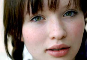 emily jane browning, model, actress, singer, brunette, green eyes, australian, aussie, sensual lips, 4k, face, portrait