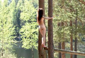 lapa, pala, taressa, model, teen, slim, russian, back, ass, trees, lake, river, skinny, outdoors, nude