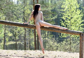 lapa, pala, taressa, model, teen, russian, back, pussy, shaved pussy, labia, ass, trunk, outdoors, nude