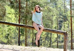 lapa, pala, taressa, model, teen, brunette, russian, dress, trunk, outdoors