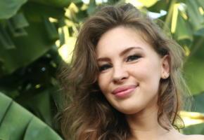 galina a, nude, brunette, smile