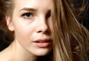 carolina, carolina sampaio, model, blue eyes, russian, sensual lips, beautiful, face