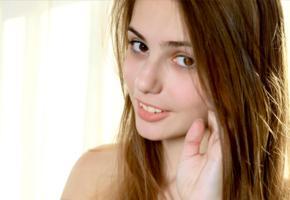 elle, elle tan, model, russian, brunette, smile, face, portrait