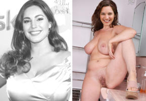 kelly brook, actress, big boobs, legs spread, pussy, trimmed hair, high heels, compilation, boobs, tits, smile, collage, fake, labia