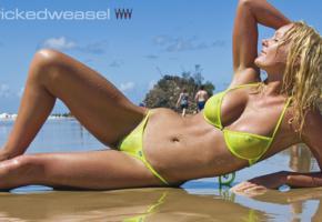 bikini, wet, beach, sea, see through, tanned, tits, boobs