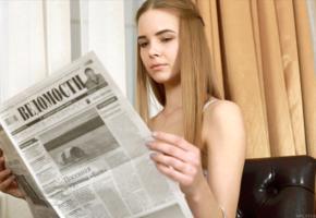 carolina, carolina sampaio, model, russian, newspaper, face