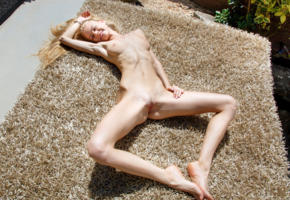 nancy a, jane f, erica, blonde, outdoors, naked, tits, landing strip, shaved pussy, labia, spread legs, smile, hi-q, pussy, boobs, nancy ace