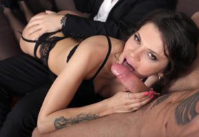 verona sky, brunette, sexy girl, oral sex, blowjob, lick, licking, suck dick, dick, lingerie, cock