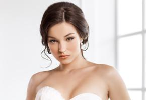 brown haired, look, sweet, sexy, bride, brunette, face