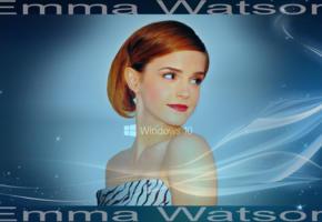 emma watson, celebs, windows10, blue