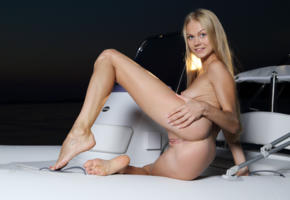 nancy a, jane f, erica, blonde, boat, naked, tits, nipples, shaved pussy, labia, ass, spread legs, smile, hi-q, nancy ace