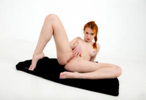 alison fox, martha gromova, model, pretty, babe, redhead, blue eyes, tits, boobs, nipples, hard nipples, pussy, shaved pussy, labia, anus, masturbation, open legs, legs, graceful feet, nude