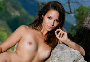 arina f, emmy, cutie, tanned, tan lines, tits, nipples, brunette