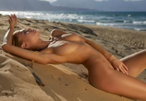 nancy a, jane f, erica, blonde, beach, naked, tits, nipples, hi-q, boobs, sea, tanned, nancy ace