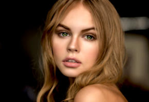 anastasia scheglova, model, pretty, babe, green eyes, russian, sensual lips, face, portrait