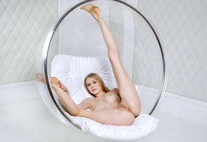 nancy a, jane f, erica, model, blue eyes, tits, boobs, legs up, pussy, shaved pussy, labia, anus, tip toes, graceful feet, long legs, bubble chair, nude, nancy ace