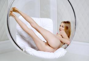 nancy a, jane f, erica, model, pussy, shaved pussy, labia, anus, ass, legs, long legs, bubble chair, nude, nancy ace