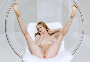 nancy a, jane f, erica, model, perfect girl, tits, boobs, pussy, shaved pussy, labia, anus, legs, legs up, tip toes, graceful feet, bubble chair, nude, nancy ace, soles