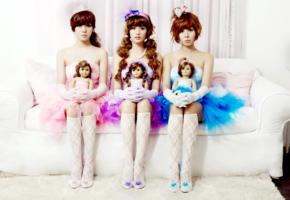 asian, model, long hair, republic of korea, lingerie, sofa, korean, doll, no nude, knee socks