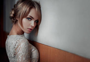 anastasia scheglova, model, pretty, babe, blonde, russian, sensual lips, face, georgy chernyadyev studio