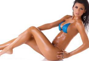 rafaela grossl, isabella milan, brunette, model, sexy, bikini, legs, girl, close up, oiled, sexy legs, hot
