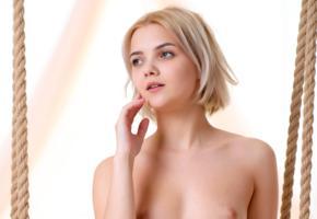 cali, sandra, blonde, sexy girl, adult model, small tits, tits, cute