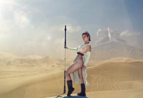 star wars, rey, jakku, jedi, sand, desert, tits, legs, hips, sexy