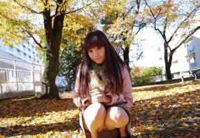 rei mizuna, model, cute, fascinating eye, brunette, asian, autumn