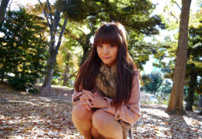 rei mizuna, model, cute, fascinating eyes, brunette, asian, autumn