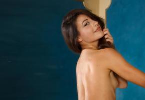lorena b, lorena g, tiny tits, skinny, brunette, tanned, nude, smile