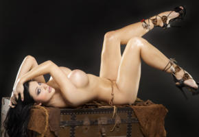 aletta ocean, black hair, model, pornstar, sexy, tits, legs, naked, heels, close up, lying, hungarian, oiled, boobs, big tits, nude