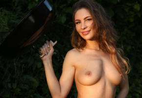galina a, barbecue, long hair, beautiful, cecelia, brunette, smile, boobs, tits