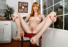 anny aurora, german, redhead, perfect girl, red toes, feet, long legs, pale skin