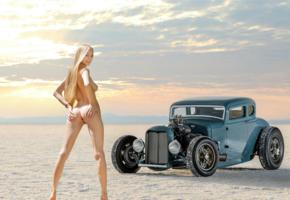 nancy a, jane f, erica, blonde, hotrod, ford, 1932, naked, desert, tits, pussy, labia, ass, anus, spread legs, smile, hi-q