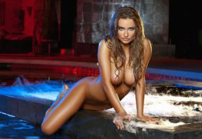 brittney shumaker, pool, nipples, water, outdoors, tits, playmate, jacuzzi, beauty, wet